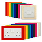 NARROW Light Switch Plug Socket Surround - Coloured Acrylic Plywood Finger Panel