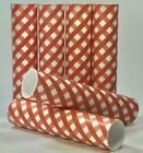Red and White Gingham Diamond Check Plaid Candle Covers / Socket Sleeves Set