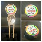 anneys - PERSONALISED  colorful range - 4 options - (24mm golf ball markers).