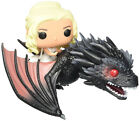 Funko Pop Rides Game Of Thrones Daenerys Drogon Jon Snow Ghost Figures Toy Gifts