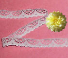 """Scalloped White Lace Trim 16-32 Yards Doll Lace 1/2"""" D13AV Added Trims ShipFree"""