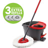 New O-Cedar Easy Wring Spin Mop and Bucket System With 3 Extra Refills No Tax
