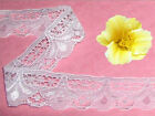 """White Lace Trim 13-26 Yards x 1-1/4"""" Floral R116V Added Trims ShipFree"""