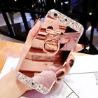samsung s5 phone cover - Luxury Mirror Back Case Diamonds Ring Holder Stand Phone Cover For Samsung S7 S8