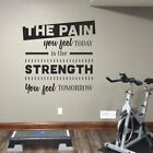 The Pain you feel Today is the Strength you feel Tomorrow - Gym Motivational Quo
