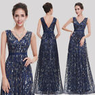 Long V-neck Evening Formal Party Ball Gown Prom Bridesmaid Dress Wedding 08669