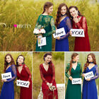 US Women Long Sleeve Formal Evening Dress Party Prom Dresses 08692 Ever Pretty