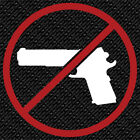 NO GUNS WEAPONS WARNING TWO COLORS SAFETY SIGN WINDOW VINYL DECAL STICKER (NG-1)