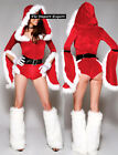 Vestito Donna Costume Tuta Babbo Natale Cosplay Hostess Christmas dresses HOS044