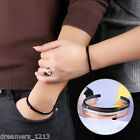 Charming Lovers Open Cuff Rhinestone Stainless Steel Bracelet Couples Bangle Hot