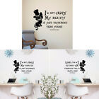 Alice In Wonderland Wall Sticker Cheshire Cat Quote Vinyl Decal Home Decor 1Pc