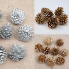 9PCS Christmas Gold Pine Cones Baubles Xmas Tree Decorations Ornament Decor GOG