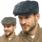 New Mens Labelled Tom Franks GL764 Waxed Lined Farmers Hunt Country Flat Cap Hat