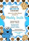 Cookie Monster Baby Shower, Cookie, Boy, Cookie Monster, Baby Shower, Invitation