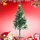 3/4/5/6/7ft Christmas Tree White/Green  Pines Artificial Tree with Metal Stand