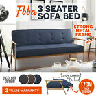3 Seater Sofa Bed with Wooden Frame Linen Fabric Couch Modern Lounge Furniture