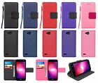 For LG Fiesta LTE / LG X Charge / LG X Power 2 Leather Wallet Case Cover & Strap