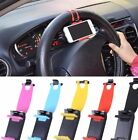 Universal Car Steering Wheel Cradle Cell phone Holder Clip Bike Mount Stand