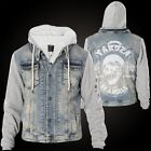 YAKUZA Jeansjacke Stalked By Devils Denim Teddy Jacke JB-11051 Medium Vintage