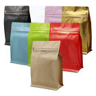Aluminum Foil Stand Up Pouch Coffee Beans Packaging Mylar for Zip Bags Seal Lock