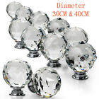 16pcs Clear Crystal Glass Door Knob Cupboard Drawer Cabinet Kitchen Handle 30/40
