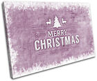 Christmas Decoration Wall Canvas ART Print XMAS Picture Gift Hessian 15 Violet C