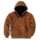 Men Sandstone Canvas Quilted Thermal Lined Duck Coat Winter Duck Work Jacket