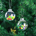 Beautiful Heart Plastic Ball Hanging Ornament Christmas Wedding Party Decor DIY