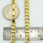 "AUTHENTIC 10K Yellow Gold Mens Italy 7MM Cuban Link Curb Chain Bracelet 7"" 8"" 9"""