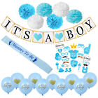 Baby Shower Banner Lot Photo Props Pom Pom It's a Boy Girl  Party Favor Decor