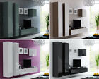 BMF VIGO 25 WALL MOUNTABLE UNIT VERTICAL SQUARE FLOATING TV STAND GLOSSY FRONTS