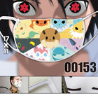 Pokemon Go Pikachu Printing Face Mask Camouflage Mouth-muffle Mask Cosplay Props