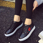 Fantastic Women Flat Shoes Spring Rose Embroidery Creepers Platform Casual Shoes