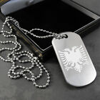 Albanian Eagle Flag Dog Tag (pendant) in a Gift Box
