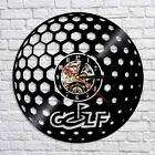 Golf Ball LED Vinyl Wall Clock Handmade Night Light Record Backlight Time Clock