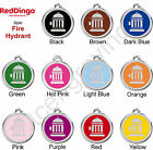 Red Dingo FIRE HYDRANT Engraved Dog ID Pet Tag / Charm - Stainless Steel  Enamel