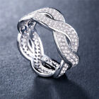 Infinity 925 Silver,gold,rose Gold Women Jewelry White Sapphire Ring Size 6-10