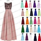 Long Satin Lace Evening Formal Party Ball Gown Prom Bridesmaid Dress Size 6-22