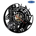Saxophone Music Instrument Vinyl Record Wall Clock Study Studio Decor Wall Art