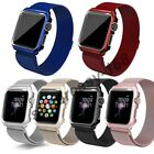 Apple Watch Milanese Stainless Steel Watch Band Strap+Cover Case Series 1 2 3 4 image