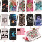 PU Leather Flip Magnetic Pattern Stand Cover Case Skins For Samsung Galaxy 2017