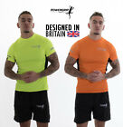 MENS Reflective Lightweight Running T-shirt Jogging Training Cycling Sports Top
