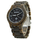 Bewell Unisex W065A2 Sandal Wooden Wristband with Analog Display Watch