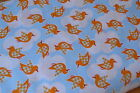 100% cotton fabric duck bird children sewing ONLY £3.95 PER METRE FREE POSTAGE!