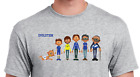 PERSONALISED FOOTBALL EVOLUTION T SHIRT PICK YOUR OWN KITS FOR THE CHARACTERS
