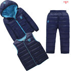1-5 Years Boys Girls Coat+Waistcoat+Pants Outfits Baby Kids Winter Clothing Sets