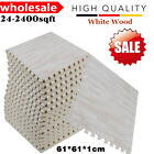 LOT EVA Foam Floor Interlocking Mat Show Tiles Play Gym White Wood Color  V.I.P