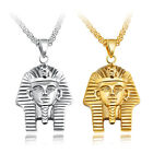 Men Vintage Stainless Steel Necklace Egyptian Pharaoh Pendants Necklaces Jewelry