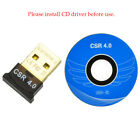 USB 2.0 Bluetooth 4.0 CSR 4.0 Dongle Adapter for PC LAPTOP WIN XP VISTA 7 8 10