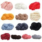 US Pop Chunky Wool Yarn Super Soft Bulky Arm Knitting Wool Roving Crocheting DIY